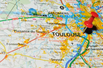 Toulouse France map